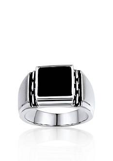 Belk & Co. Men's Black Oynx Ring in Sterling Silver