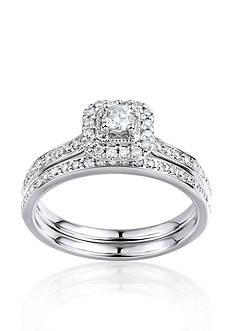 Belk & Co. 1/2 ct. t.w. Diamond Bridal Set in 10k White Gold