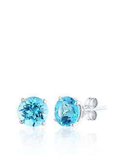 Belk & Co. 14k White Gold Swiss Blue Topaz Earrings