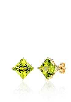 Belk & Co. 14k Yellow Gold Peridot Stud Earrings