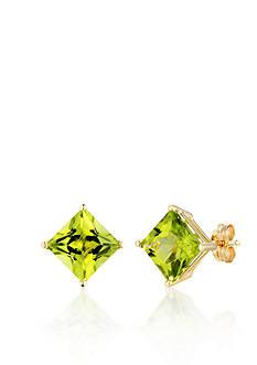 Belk & Co. 14k Yellow Gold Peridot Stud Earrings