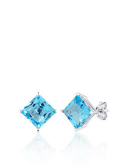 Belk & Co. 14k White Gold Swiss Blue Topaz Stud Earrings