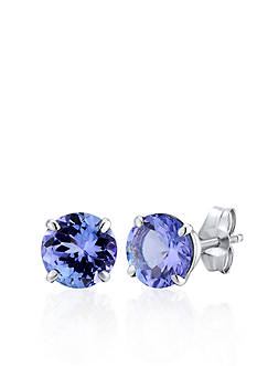 Belk & Co. 14k White Gold Tanzanite Stud Earrings