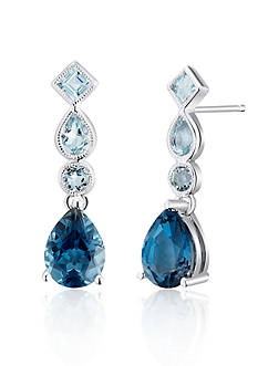 Belk & Co. Sterling Silver Blue Topaz Earrings