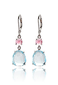 Belk & Co. Sterling Silver Blue Topaz and Pink Tourmaline Earrings