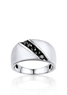 Belk & Co. Men's Black Diamond Ring in 10k White Gold