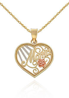Belk & Co. 14K Tri-Color Mama Pendant
