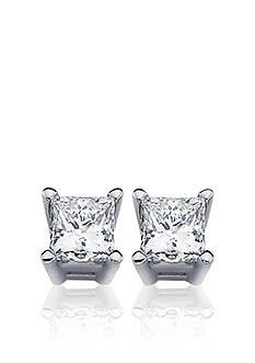 Belk & Co. 1/2 ct. t.w. Princess Cut Diamond Stud Earrings in 14k White Gold