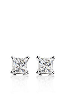 Belk & Co. 1/4 ct. t.w. Princess Cut Diamond Stud Earrings