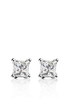 Belk & Co. 1/4 ct. t.w. Princess Cut Diamond Stud Earrings in 14k White Gold