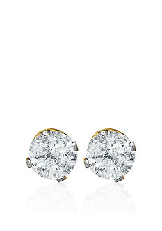 Belk & Co. 1/3 ct. t.w. Diamond Stud Earrings in 14k Yellow Gold