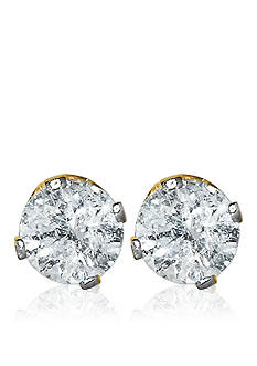 Belk & Co. 1/4 ct. t.w. Diamond Stud Earrings in 14k Yellow Gold