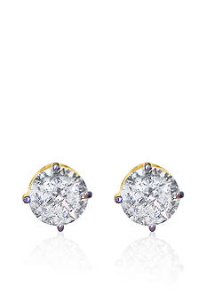 Belk & Co. 1.00 ct. t.w. Diamond Stud Earrings in 14k Yellow Gold