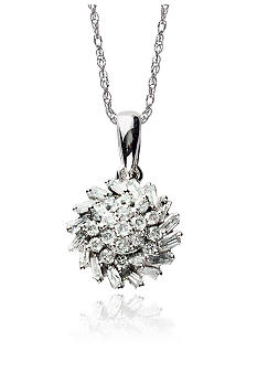 Belk & Co. 1/3 ct. t.w. Diamond Cluster Pendant in 10k Gold