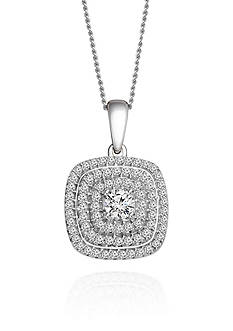 Belk & Co. Diamond Pendant in 10k White Gold