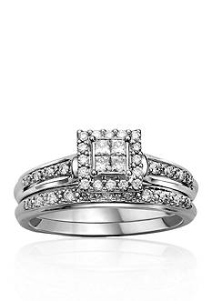 Belk & Co. 3/8 ct. t.w. Diamond Bridal Ring Set in 10k White Gold