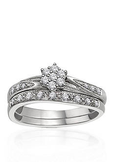 Belk & Co. 1/4 ct. t.w. Diamond Bridal Set in 10k White Gold