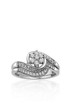 Belk & Co. 1/3 ct. t.w. Diamond Bridal Set in 10k White Gold