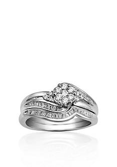 Belk & Co. 1/2 ct. t.w. Diamond Bridal Set in 10k White Gold