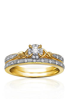 Belk & Co. 1/5 ct. t.w. Diamond Bridal Ring Set in 10k Yellow Gold