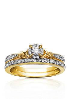 Belk & Co. 1/5 ct. t.w. Diamond Bridal Ring Set in 10k Yellow Gold