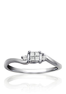 Belk & Co. Diamond Promise Ring in Sterling Silver
