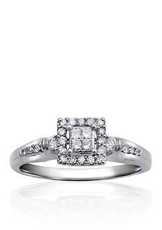 Belk & Co. Diamond Promise Ring in Sterling Silver