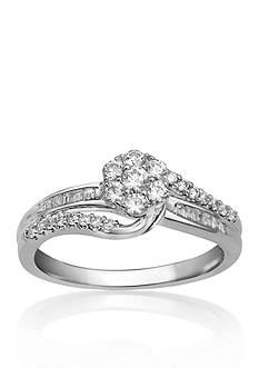 Belk & Co. 1/2 ct. t.w. Diamond Engagement Ring in 10k White Gold