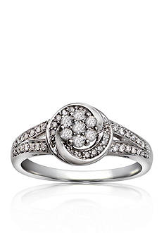 Belk & Co. Diamond Ring in 10k White Gold