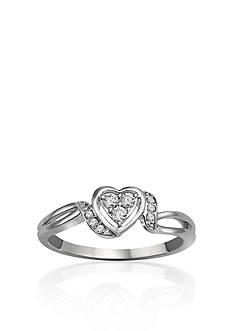 Belk & Co. Diamond Heart Promise Ring in Sterling Silver