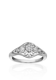 Belk & Co. Diamond Flower Promise Ring in Sterling Silver
