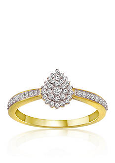 Belk & Co. Diamond Ring in 10k Yellow Gold
