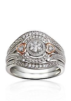 Belk & Co. 1/6 ct. t.w. Diamond Bridal Set in 10k Two Tone Gold