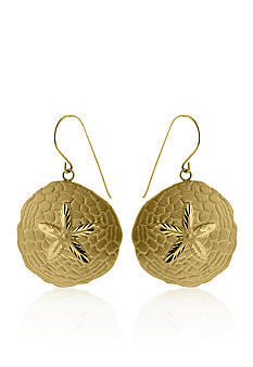 Belk & Co. 14K Yellow Gold Sand Dollar Earrings