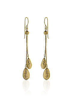 Belk & Co. 14k Yellow Gold Double Bead Dangle Earrings