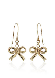 Belk & Co. 14K Gold Bow Earrings