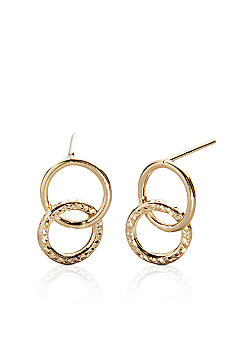 Belk & Co. 14k Yellow Gold Double Circle Earrings