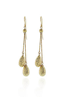Belk & Co. 14k Yellow Gold Teardrop Earrings