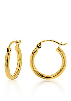 Belk & Co. 14k Yellow Gold Round 15-mm. Hoop Earrings
