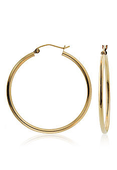 Belk & Co. 14k Yellow Gold Round Hoop Earrings