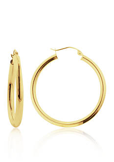 Belk & Co. 14k Yellow Gold 30mm Hoop Earrings