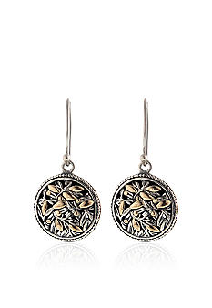 Belk & Co. Sterling Silver and 14k Gold Earrings