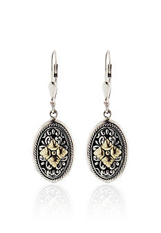 Belk & Co. Oval Drop Earrings