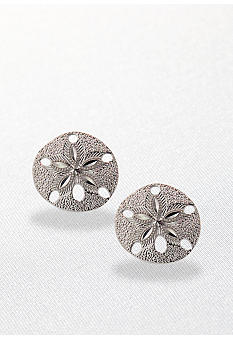 Belk & Co. Sterling Silver Sand Dollar Earring