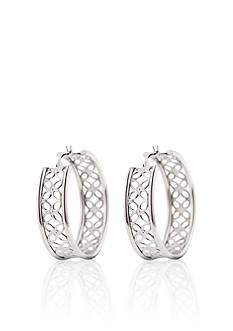 Belk & Co. Sterling Silver Flower Hoop Earrings