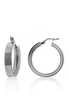 Belk & Co. Sterling Silver Hoop Earrings