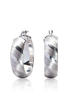 Belk & Co. Sterling Silver Textured Hoop Earrings