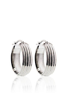 Belk & Co. Large Oval Hoop Earrings in Sterling Silver