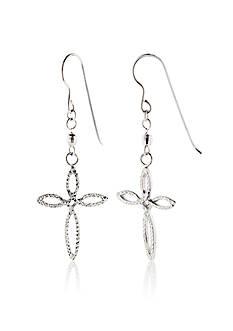 Belk & Co. Sterling Silver Cross Earrings