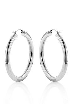 Belk & Co. Sterling Silver Tube Hoop Earrings